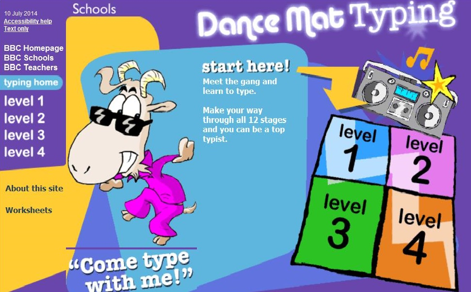 A fun interactive game to improve touch typing